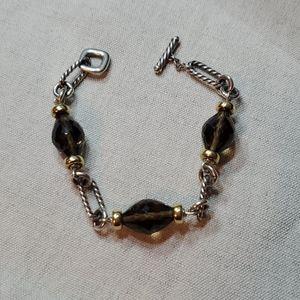 David Yurman Figaro Bracelet w/ Smoky Quartz Beads